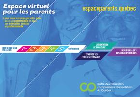 Carton de l'espace virtuel pour les parents